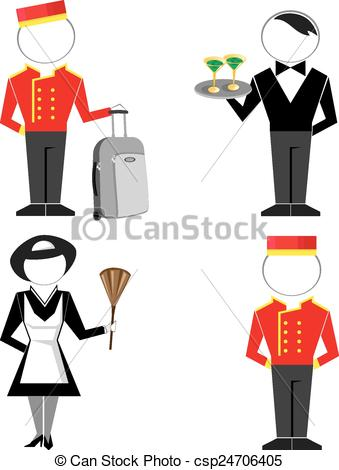 Hotel clipart hotel logo Set staff Clip Hotel of
