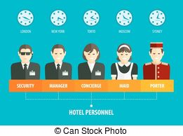 Staff clipart hotel staff Personnel hotel people The Reception