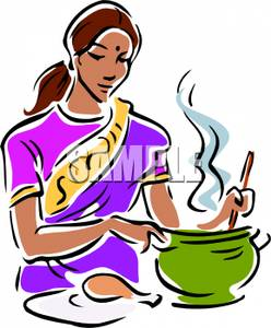 Indian clipart old Cooking Free Images Clipart Woman