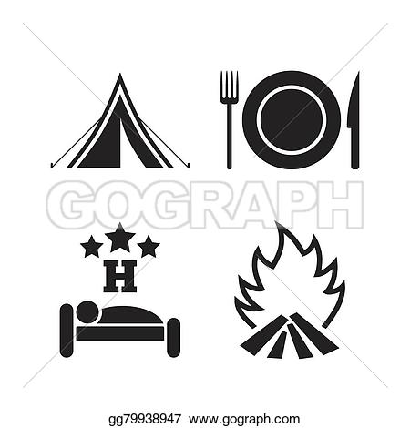 Hotel clipart on fire Tent fire EPS and tent
