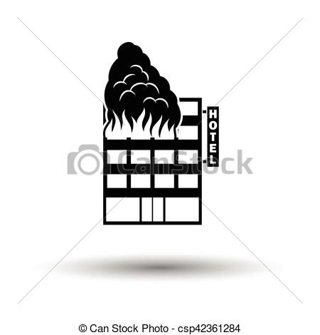 Hotel clipart on fire Csp42361284 with building icon building