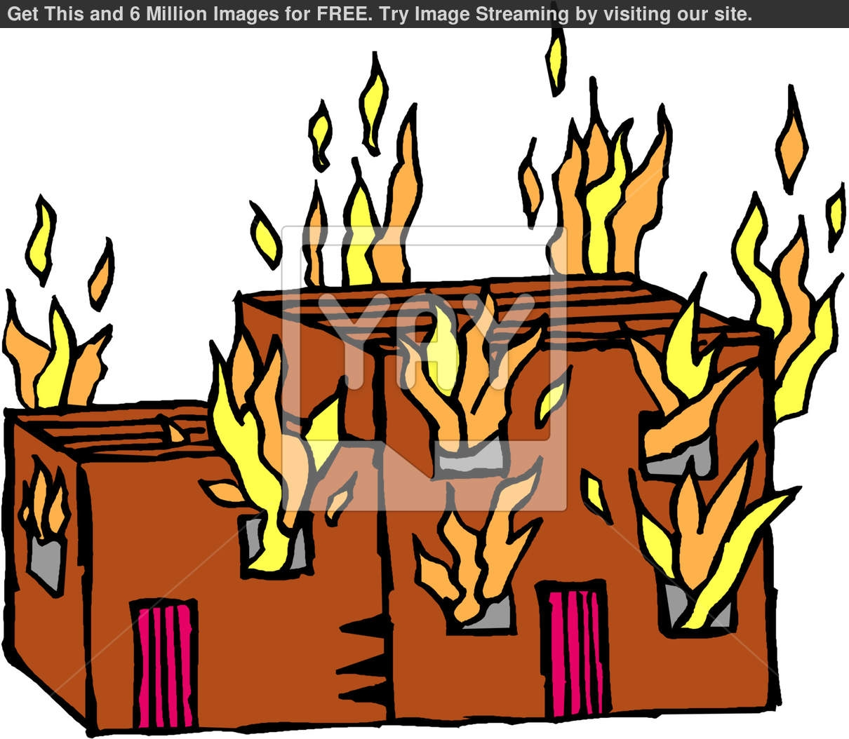 Hotel clipart on fire On com On Building Clipart