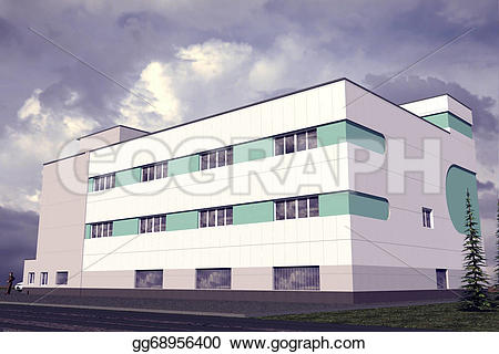 Hotel clipart public building Drawing gg68956400 building 3 GoGraph