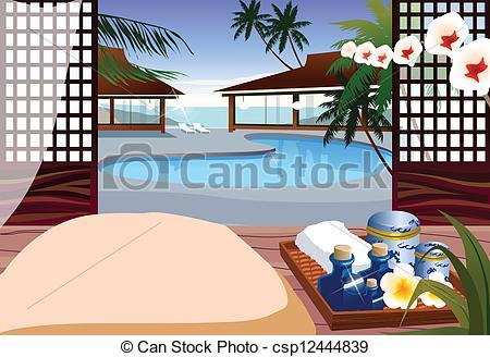 Resort clipart hotel  Vectors hotel Indoor pool