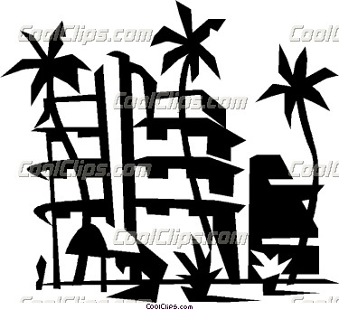 Resort clipart black and white #14
