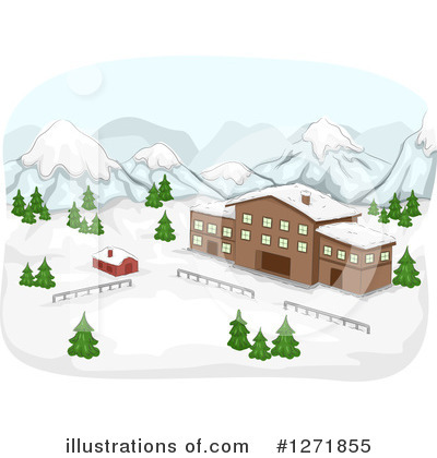 Ski Lodge clipart Design (RF) Illustration BNP #1271855