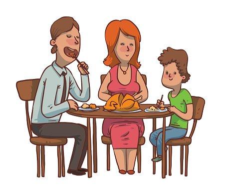 Hotel clipart vater  mit und Vater Abendessen