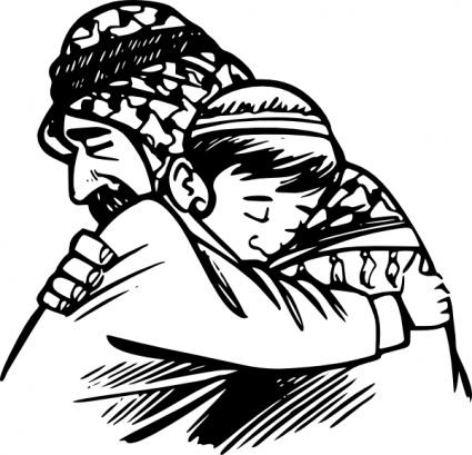 Hotel clipart vater Hug kostenlose ClipArt Menschen ClipartLogo