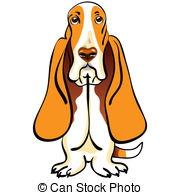 Hound clipart Sketch Basset  color Stock