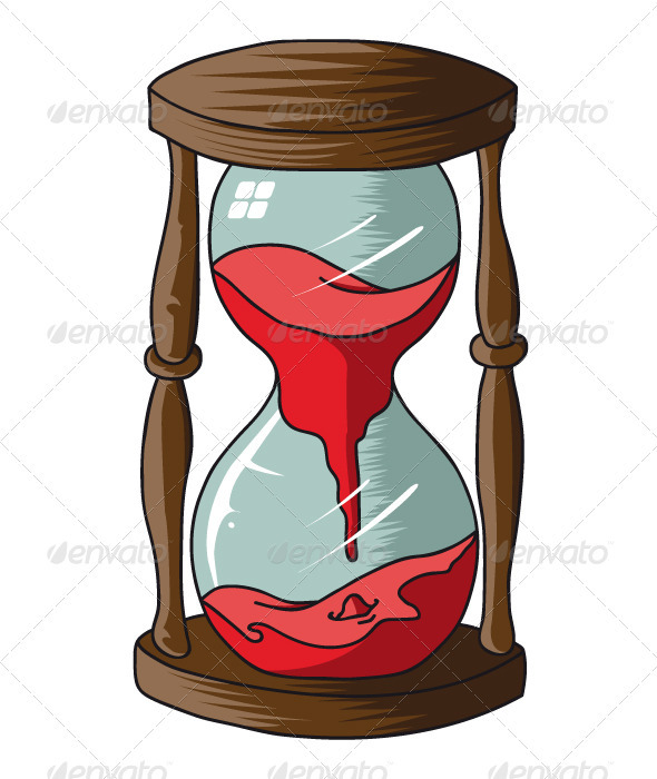 Hourglass Vectors Red Objects GraphicRiver