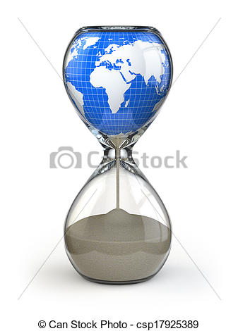 Hourglass clipart earth Hourglass image csp17925389 Conceptual of