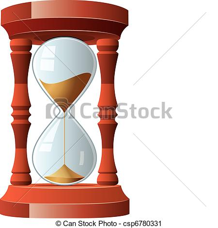 Vector hourglass illustration Clip of