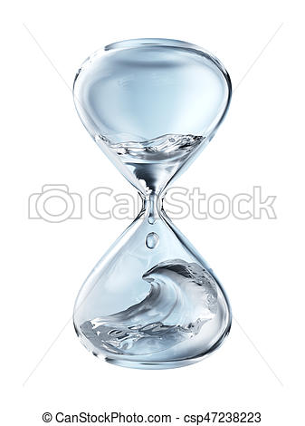 Hourglass clipart water Hourglass Art with Illustration dripping