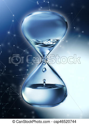 Hourglass clipart water Of rendering  hourglass with