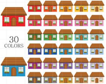 House clipart hause House Häuser Rainbow Clipart Clipart