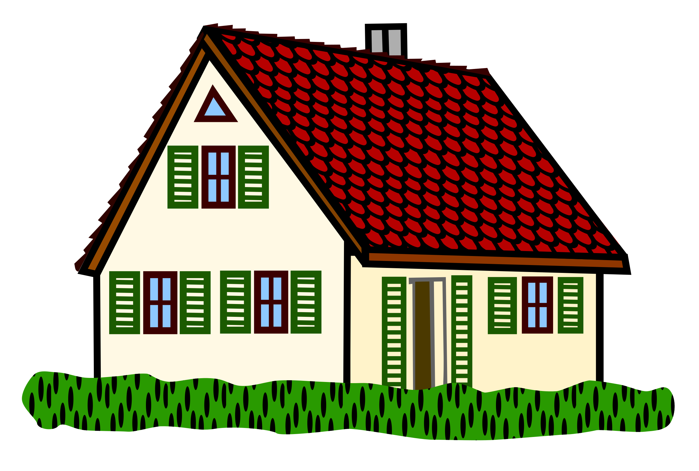 House clipart hause Coloured coloured house Clipart house
