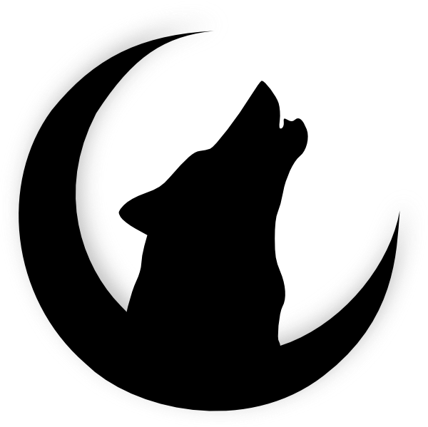 Drawn howling wolf silhouette Wolf With clip art Wolf