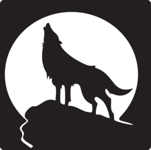 White Wolf clipart howling Clip clip Moon Howling art