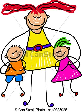 Hug clipart cuddle Toddler with a having mum