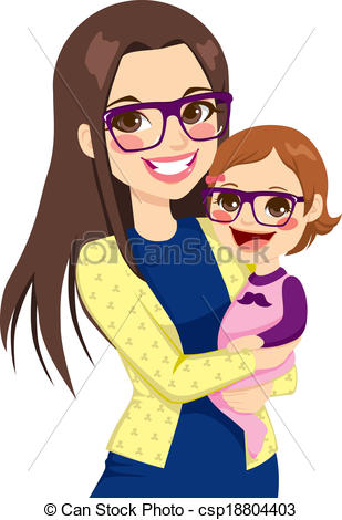 Hug clipart mama Pretty csp18804403  of Vector