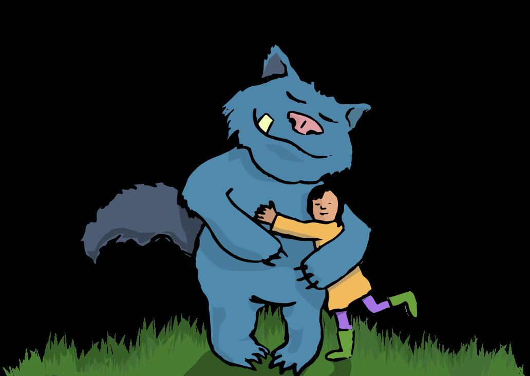 Monster clipart hug #7