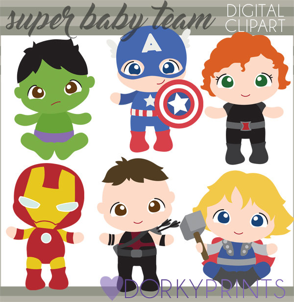 Baby clipart avenger Thor Superhero Clip and Use