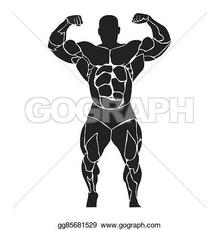 Clip Bodybuilder Art Stock athlete