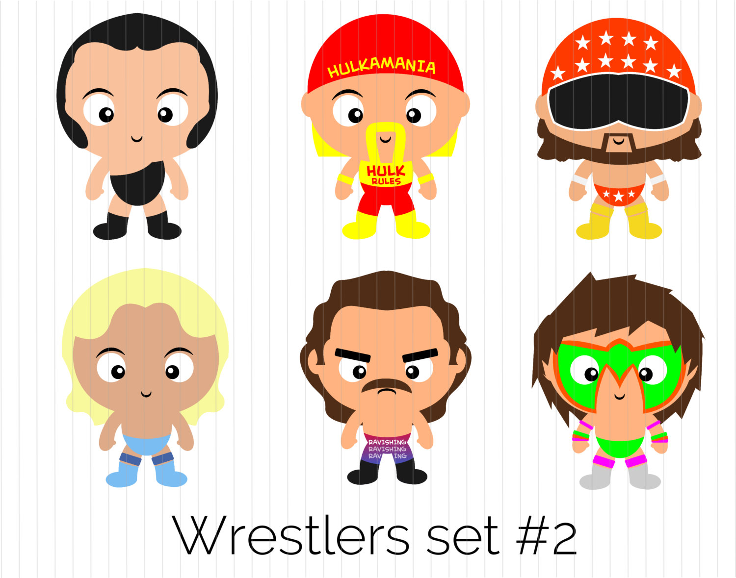 Wrestler clipart lucha libre Flair The Man clipart Andre