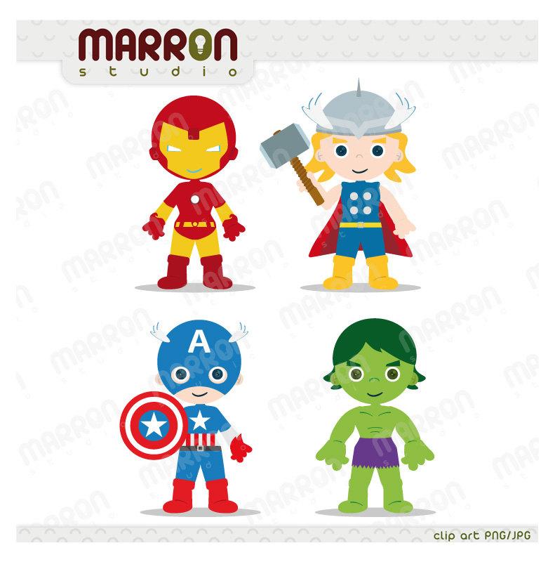 America clipart avenger Set Kids Avengers Superhero Clip