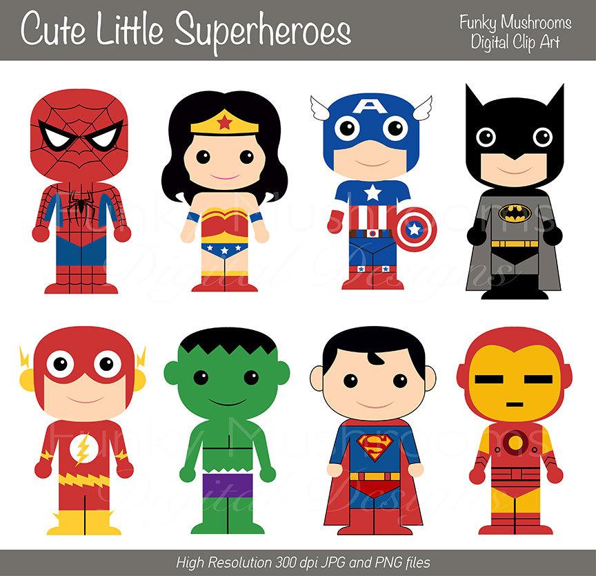 Superman clipart cute Princess Knights Cute Topper Favor