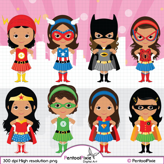 Catwoman clipart wonder woman Girls clipart by American Superhero