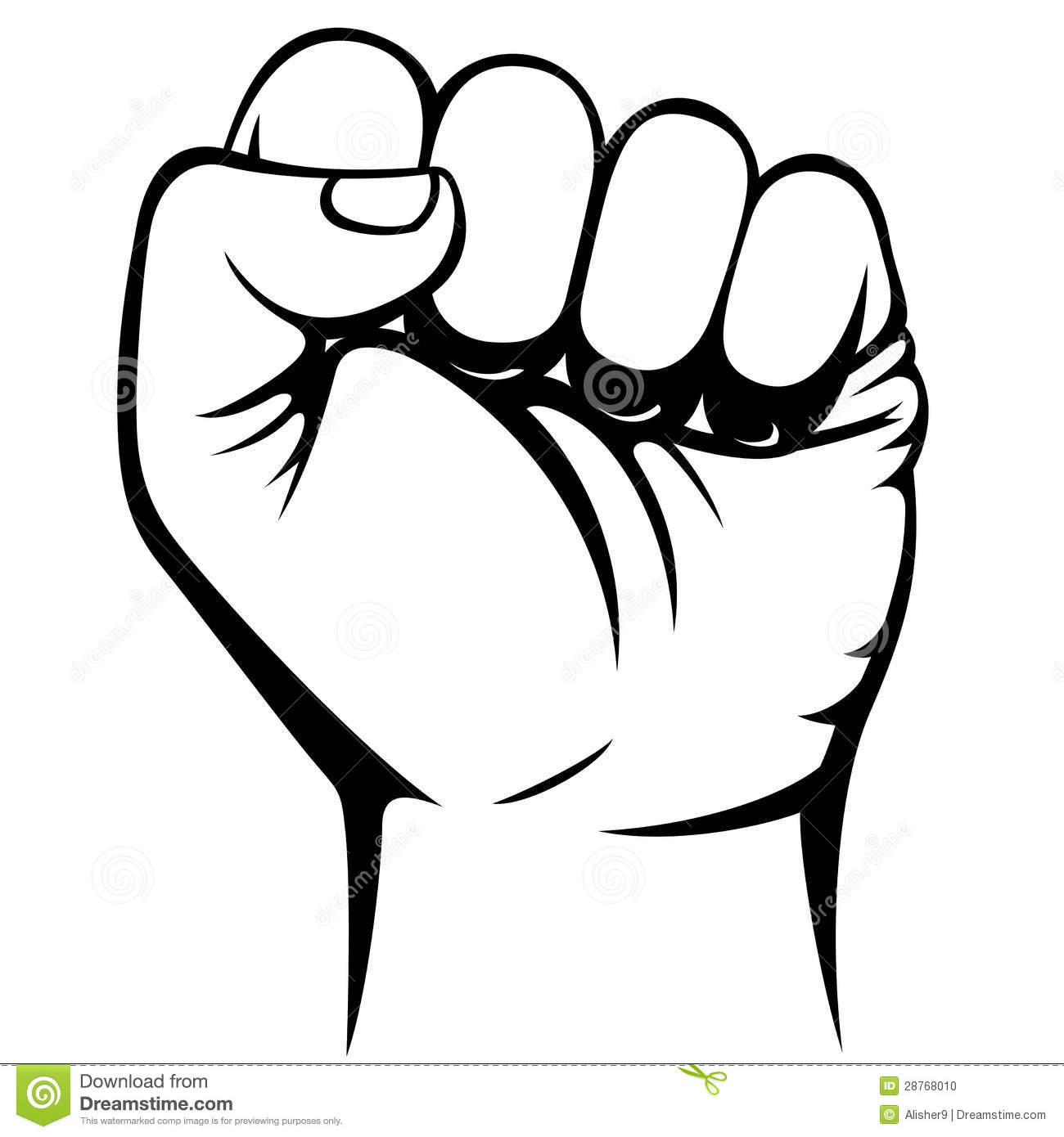 Hulk clipart fist Fist And White Clipart Closed