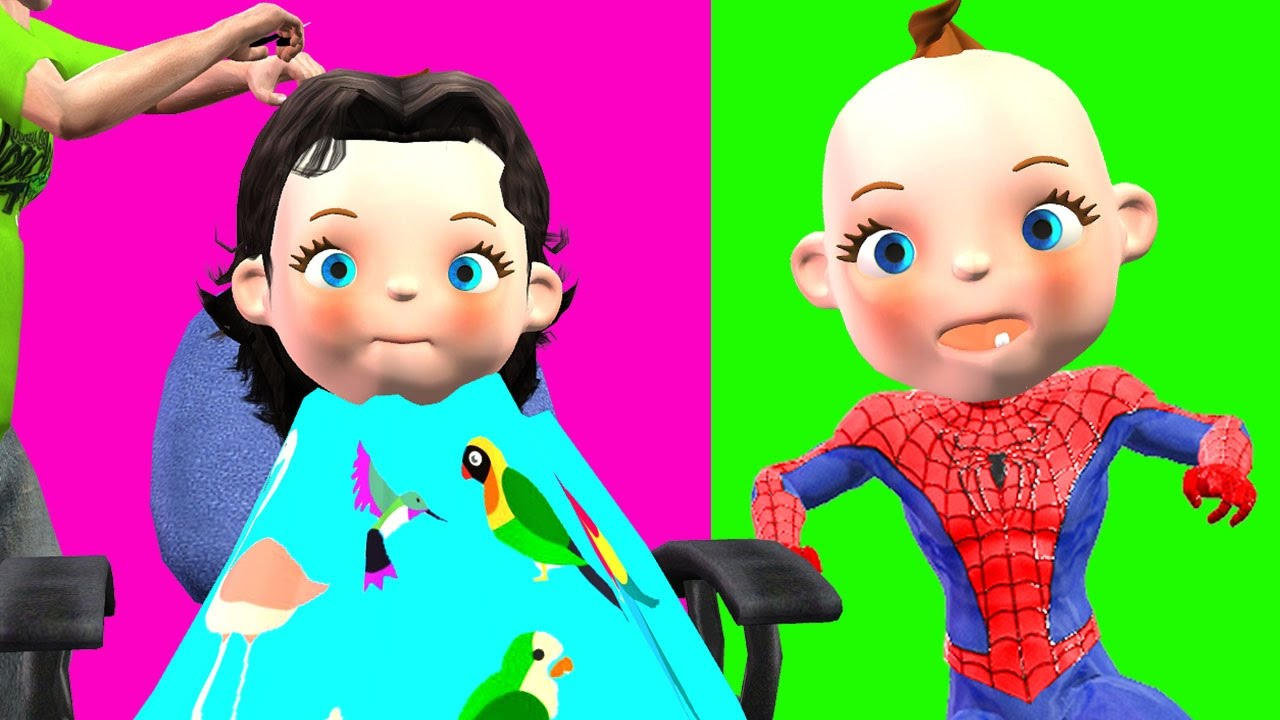 Spiderman clipart little boy Little Finger A Family HairCut