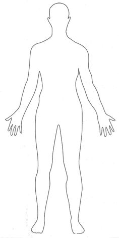 Human clipart body outline Images School body outline clipart