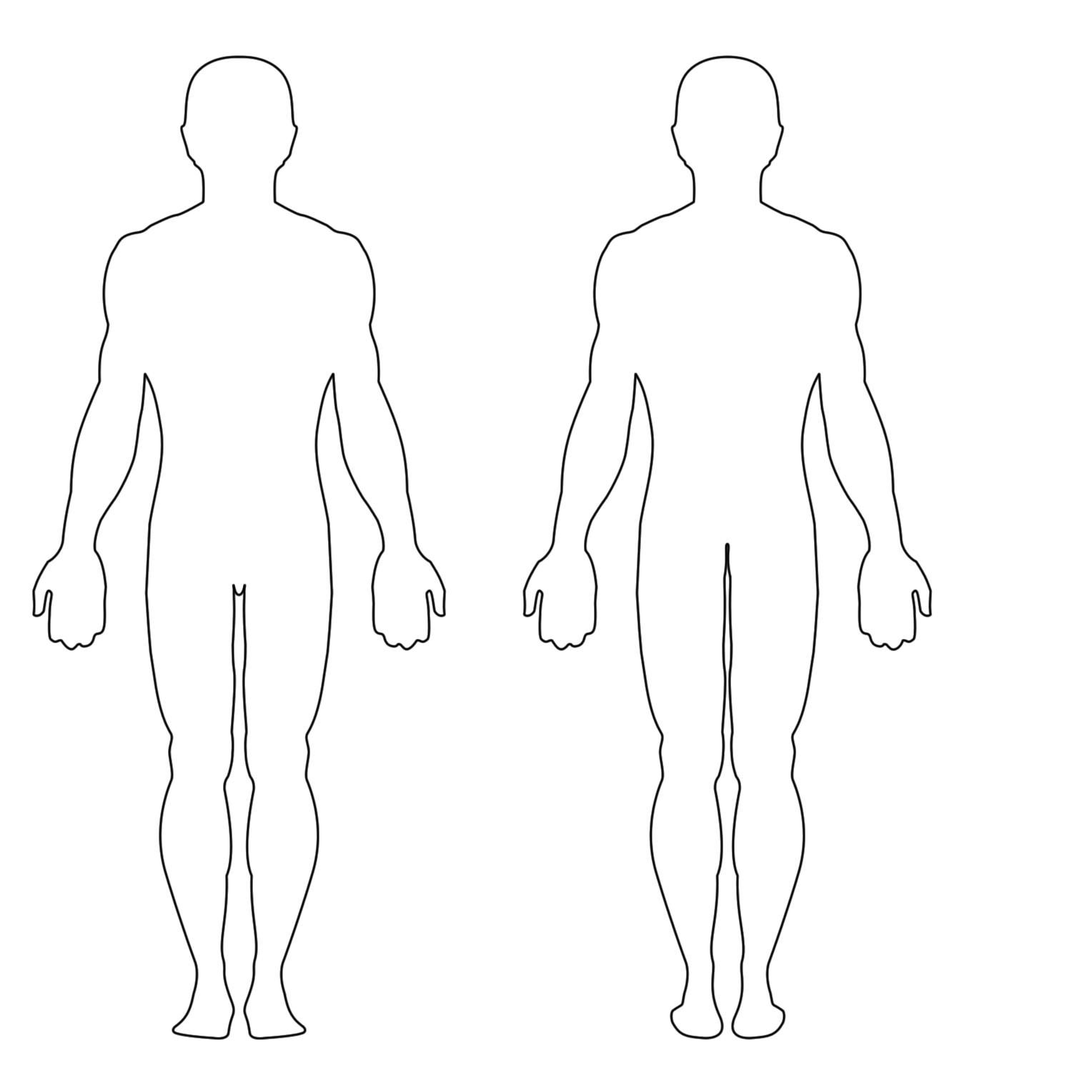 Human clipart body outline Free Clip Outline Body Human