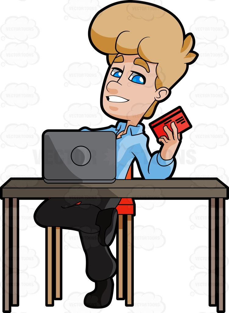 Human clipart career person Shopping  A #blackpants Credit