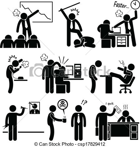 Staff clipart boss Angry csp17829412 A Boss Vector