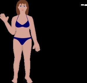Human clipart female #1