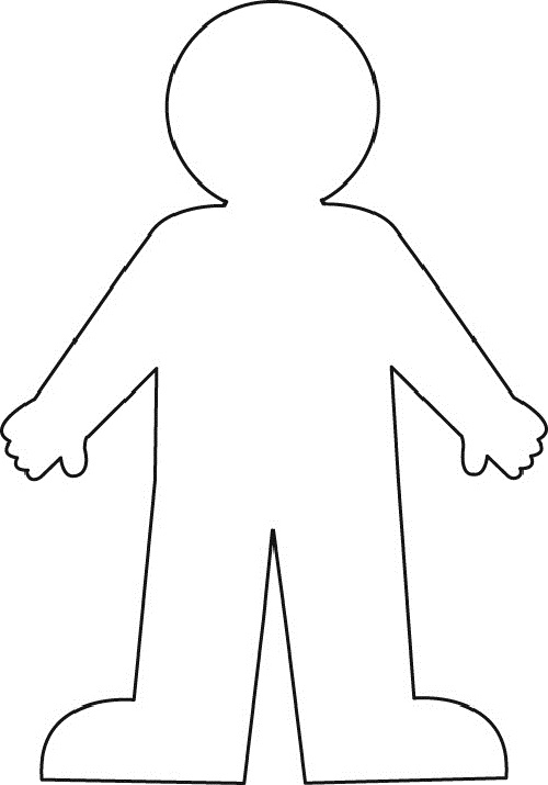 Shoulder clipart body outline Outline Art The Free on