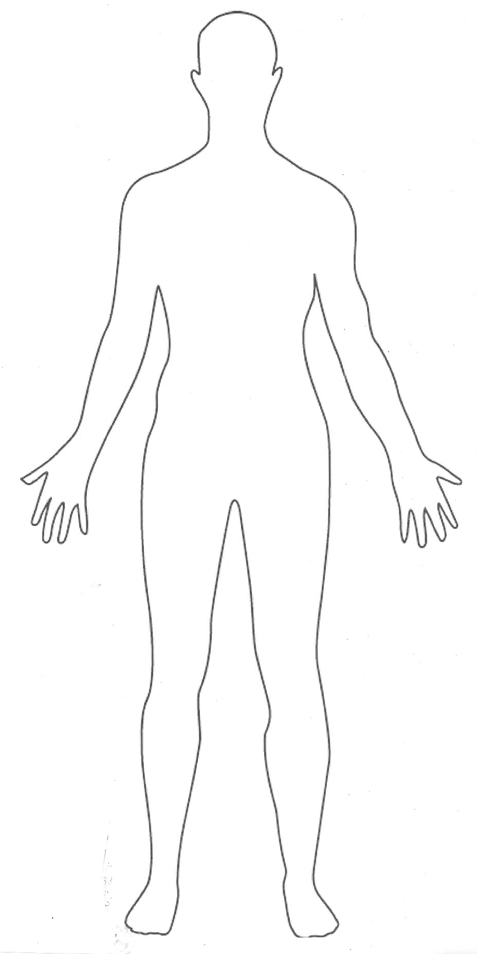 Shoulder clipart body outline Outline Clipart Clipart Body clipart