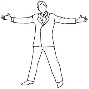 Human clipart human standing #11