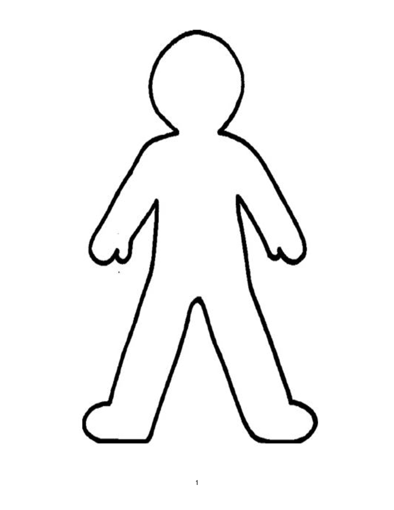 People clipart person outline Outline Download For Free Template