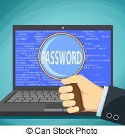 Human clipart password Illustration password 10 word magnifying