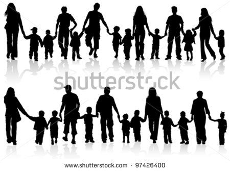 Human clipart person holding hand #1