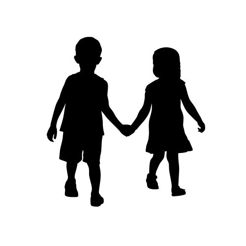 Human clipart person holding hand #3