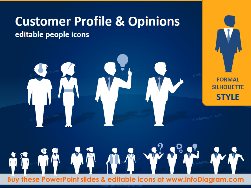 Creative clipart powerpoint PowerPoint People Customer Silhouettes (PPT