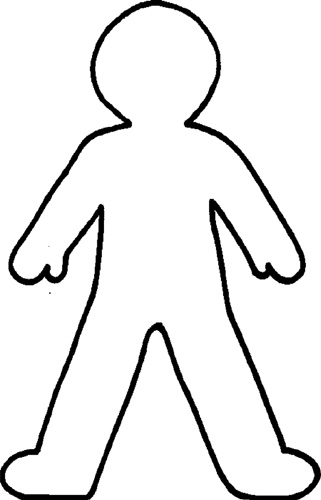 People clipart person outline Outline  Free Person Art