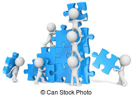 Puzzle clipart employee teamwork Collaboration Blue  15