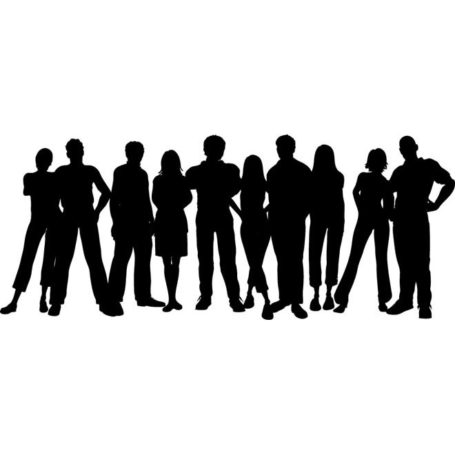 Crowd clipart person art Free illustration Graphics Clipart
