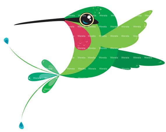 Hummingbird clipart Illustration! Art  Etsy love